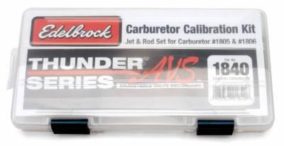 Carburetion - Carburetor Metering Jet - Edelbrock - Edelbrock Thunder AVS Carburetor Calibration Kit for #1805 & 1806 Carburetors - 1840