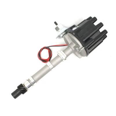 Pertronix - Elec Dist Cast Chevy SB/BB w/Ignitor Vac Adv. Black Cap - D104600