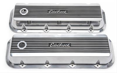 Cylinder Block Components - Engine Valve Cover Set - Edelbrock - Elite II Valve Covers for Chevy Big-Block V8 1965 & Later - 4275