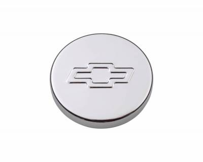 Proform - Engine Oil Filler Cap - Push-In Style - 1.22 Hole - Embossed Bowtie Logo - Chrome