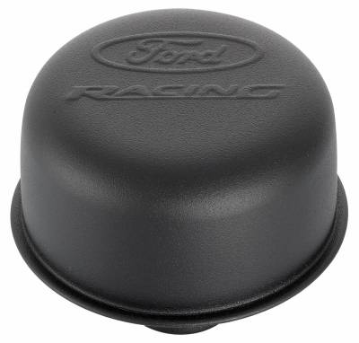 Proform - Engine Valve Cover Breather - 3 In Dia - Ford Logo - Push-In Style - Black Crinkle