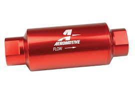 Aeromotive Fuel System - Filter In-Line AN-10 size, 40 micron stainless steel element, Red Anodize Finish - 12335