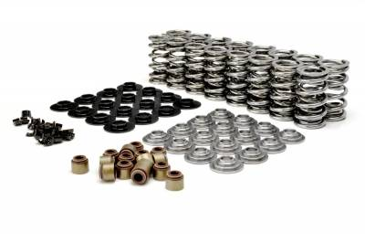 "Valve Train Components - Engine Valve Spring Kit - COMP Cams - GM LS Dual Valve Spring Kit w/ Tool Steel Retainers; .660"" Max Lift - 26925ts-KIT"