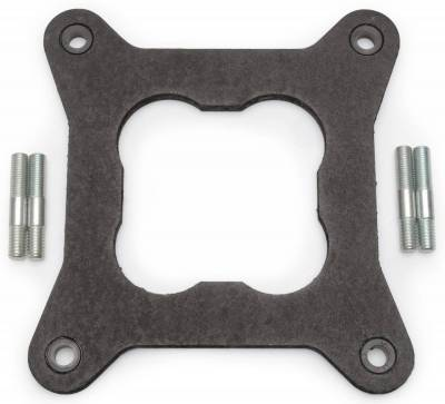 "Carburetion - Carburetor Heat Insulator - Edelbrock - Heat Insulator Gasket for Open 4150 Square-Bore - 0.320"" Thick - 9265"