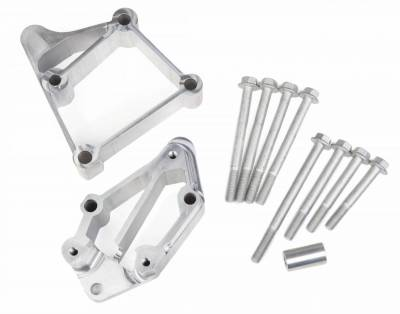 Accessory Drive Belt System Components - Accessory Drive Component Mount Set - Holley - HI ACC BKT INSTALL KIT, LS LONG-NATURAL - 21-3