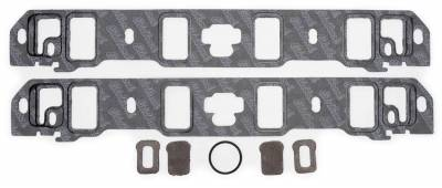 Gaskets and Sealing Systems - Engine Intake Manifold Gasket Set - Edelbrock - Intake Manifold Gasket for 1963-1996 Big-Block Fords - 7220