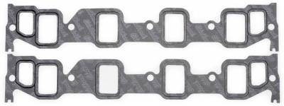 Gaskets and Sealing Systems - Engine Intake Manifold Gasket Set - Edelbrock - Intake Manifold Gasket for 1985-1976 390-428 FE Fords - 7224