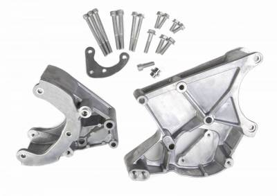 Accessory Drive Belt System Components - Accessory Drive Component Mount Set - Holley - LS ACC DRV BRACKET KIT (WORKS WITH R4 A/ - 20-131