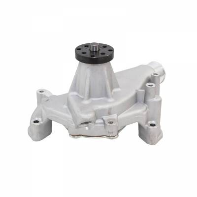 Water Pump and Related Components - Engine Water Pump - Top Street Performance - Mechanical Water Pump - Aluminum, Satin - Chevrolet Small Block Long Neck - HC8012