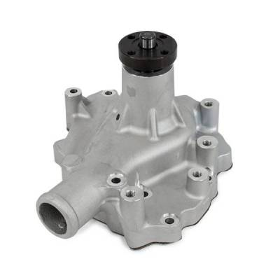 Top Street Performance - Mechanical Water Pump - Aluminum, Satin - SBF (289, 302, 351W) D/S Inlet - HC8050