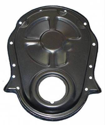 Valve Train Components - Engine Timing Cover - Milodon Inc. - Milodon Big Block Chevy Black Timing Cover - MIL-65604