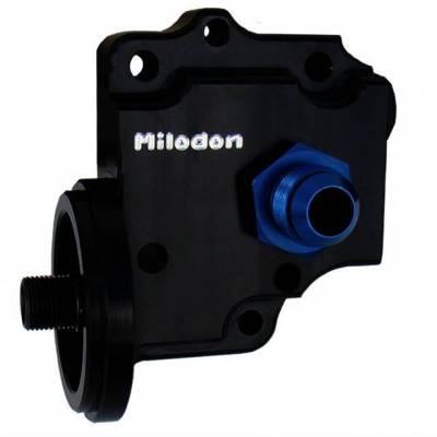Cylinder Block Components - Engine Oil Pump Cover - Milodon Inc. - Milodon Billet Oil Pump Cover Top Inlet Port - MIL-21215
