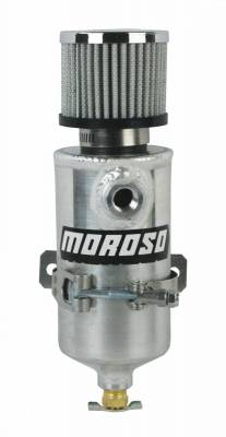 "Crankcase Ventilation System - Crankcase Breather Bottle - Moroso - Moroso Breather Tank, Two 3/8"" Female - 85473"
