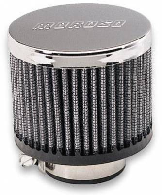 Crankcase Ventilation System - Engine Crankcase Breather Cap - Moroso - Moroso Breather, Clamp-On, No Hood - 68815