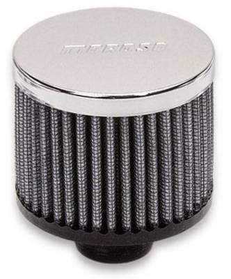 Crankcase Ventilation System - Engine Crankcase Breather Cap - Moroso - Moroso Breather, Push-In, No Hood - 68817