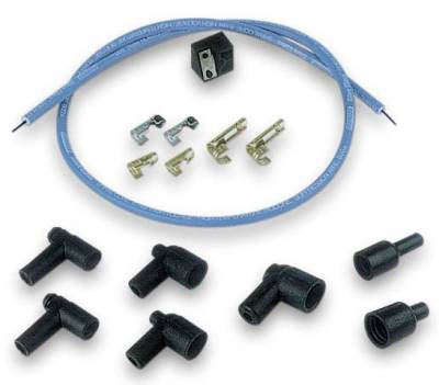 Cylinder Block Components - Engine Oil Separator - Moroso - Moroso Coil Wire Kit, Spiral Core, Blue - 73235