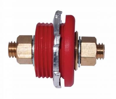 Moroso Connector Thru Panel, Red - 74144