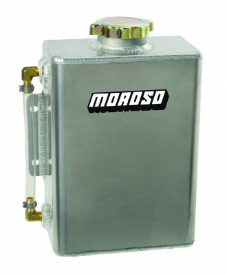 Radiators, Coolers and Related Components - Engine Coolant Reservoir - Moroso - Moroso Expansion Tank, Aluminum - 63769