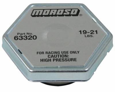Radiators, Coolers and Related Components - Radiator Cap - Moroso - Moroso Radiator Cap, 20 Lb. - 63320