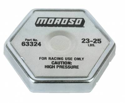 Radiators, Coolers and Related Components - Radiator Cap - Moroso - Moroso Radiator Cap, 24 Lb. - 63324