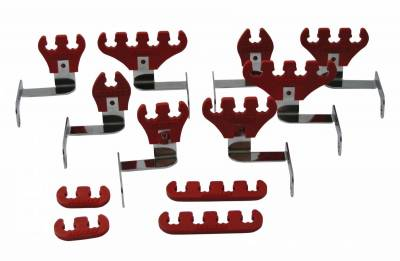 Wire, Cable and Related Components - Wire Conduit - Moroso - Moroso Wire Loom Kit, Big Block Chevy, Red - 72176
