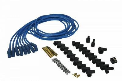 Ignition Wire and Related Components - Spark Plug Wire - Moroso - Moroso Wire Set, Univ, Blu, 90 Deg Boot - 73225
