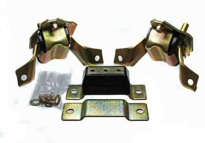 Cylinder Block Components - Engine Mount Kit - Energy Suspension - MUST. MOTOR MOUNT/TRANS SET - 4.1124G