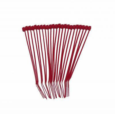 Wire, Cable and Related Components - Cable Tie - Taylor Cable - Nylon Tie Strap 8in red - 43022