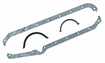 Gaskets and Sealing Systems - Engine Oil Pan Gasket Set - Mr Gasket - OIL PAN GSKT,SB CHEV - 198