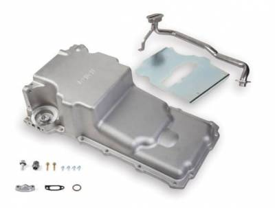 Cylinder Block Components - Engine Oil Pan - Holley - OIL PAN, LS RETROFIT, GEN 1 F-BODY - 302-2