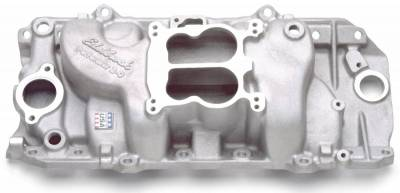Cylinder Block Components - Engine Intake Manifold - Edelbrock - Performer 2-O Intake Manifold for 1965-90 Big-Block Checy w/Oval Port Heads - 2161