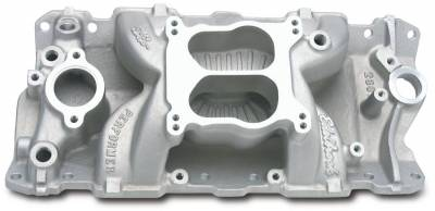 Cylinder Block Components - Engine Intake Manifold - Edelbrock - Performer Air-Gap Intake Manifold for 1955-86 Small-Block Chevy - 2601