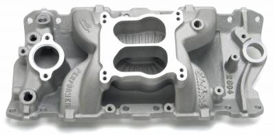 Cylinder Block Components - Engine Intake Manifold - Edelbrock - Performer Air-Gap Intake Manifold for 1987-95 Small-Block Chevy - 2604