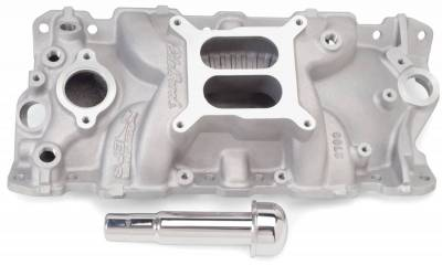 Cylinder Block Components - Engine Intake Manifold - Edelbrock - Performer EPS Intake Manifold w/ Oil Fill Tube for 1955-86 Small-Block Chevy - 2703