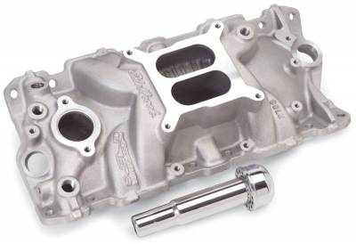 Edelbrock - Performer EPS Intake Manifold w/ Oil Fill Tube for 1955-86 Small-Block Chevy - 2703 - Image 2