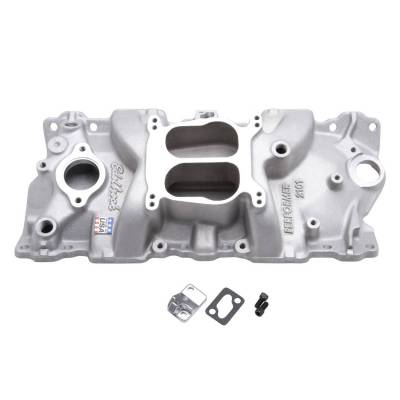 Cylinder Block Components - Engine Intake Manifold - Edelbrock - Performer Intake Manifold for 1955-86 Small-Block Chevy, Satin Finish - 2101