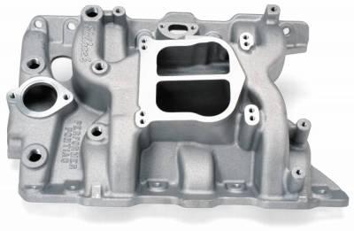 Cylinder Block Components - Engine Intake Manifold - Edelbrock - Performer Intake Manifold for 1965-79 Pontiac 326-455 Non-EGR - 2156
