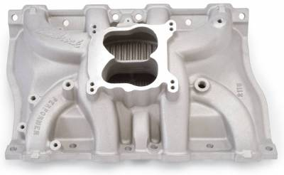 Cylinder Block Components - Engine Intake Manifold - Edelbrock - Performer Intake Manifold for 1968-1976 Cadillac 472-500, Satin Finish - 2115