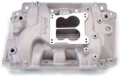 Cylinder Block Components - Engine Intake Manifold - Edelbrock - Performer Intake Manifold for Buick 400-455 V8, Non-EGR, Satin Finish - 2146