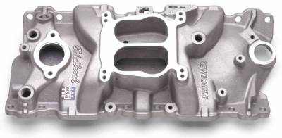 Cylinder Block Components - Engine Intake Manifold - Edelbrock - Performer Intake Manifold Small-Block Chevy - 3701