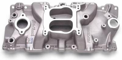 Cylinder Block Components - Engine Intake Manifold - Edelbrock - Performer Intake Manifold Small-Block Chevy - 3701