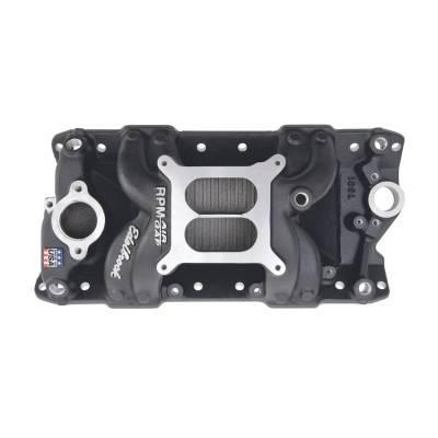 Edelbrock - Performer RPM AIR-Gap Small Block Chevy Black Intake Manifold - 75013 - Image 1