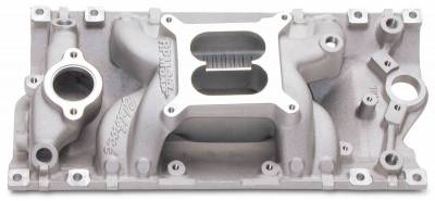 Cylinder Block Components - Engine Intake Manifold - Edelbrock - Performer RPM AIR-GAP Small Block Chevy Vortec Intake Manifold - 7516