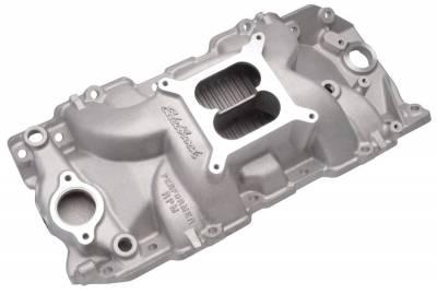 Cylinder Block Components - Engine Intake Manifold - Edelbrock - Performer RPM Big Block Chevy 2-R Intake Manifold - 7163