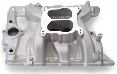 Cylinder Block Components - Engine Intake Manifold - Edelbrock - Performer RPM Pontiac 326-455 Intake Manifold - 7156