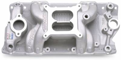 Cylinder Block Components - Engine Intake Manifold - Edelbrock - Performer RPM Small Block Chevy AIR-Gap Intake Manifold - 7501