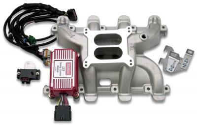 Cylinder Block Components - Engine Intake Manifold - Edelbrock - Performer RPM Small Block Chevy LS1 Intake Manifold - 7118