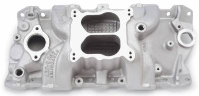 Cylinder Block Components - Engine Intake Manifold - Edelbrock - Performer RPM Small Block Chevy Q-JET Intake Manifold - 7104