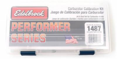 Carburetion - Carburetor Calibration Kit - Edelbrock - Performer Series Calibration Kit for #1406 Carburetors - 1487