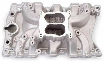 Cylinder Block Components - Engine Intake Manifold - Edelbrock - Performer Small Block Oldsmobile 350 Intake Manifold - 7111